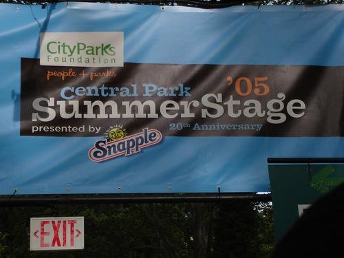 Summer stage 2005- Central park