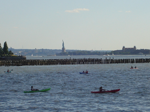 kayak on the Hudson river