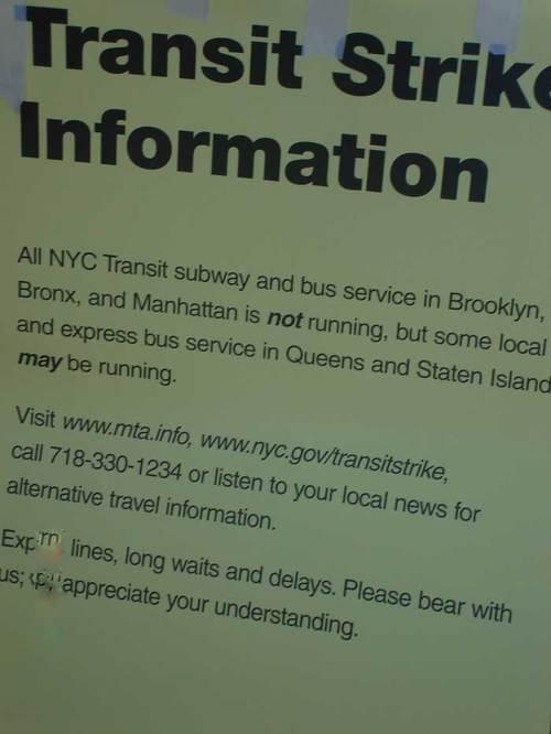 Subway- strike
